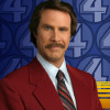 "Ron Burgandy dropped by Conan to announce ""Anchorman 2″! (and rock a little jazz flute)"