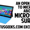 Dear Microsoft: An Open Letter About The Microsoft Surface