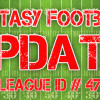 Important Fantasy Football UPDATE!